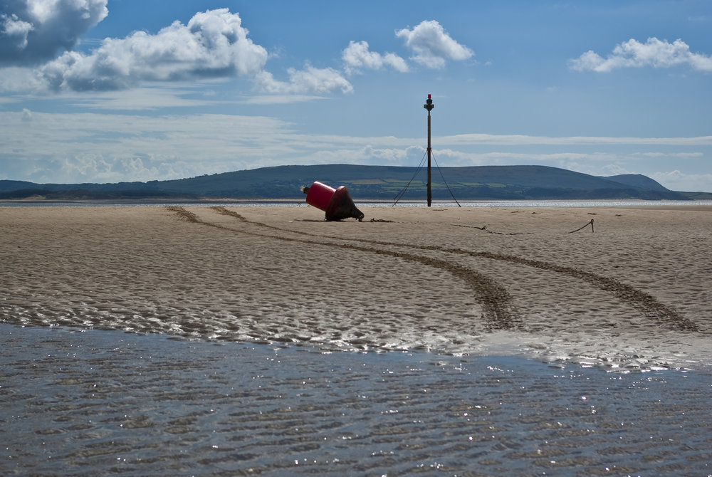 Burry Port Beach looking towards the Gower
