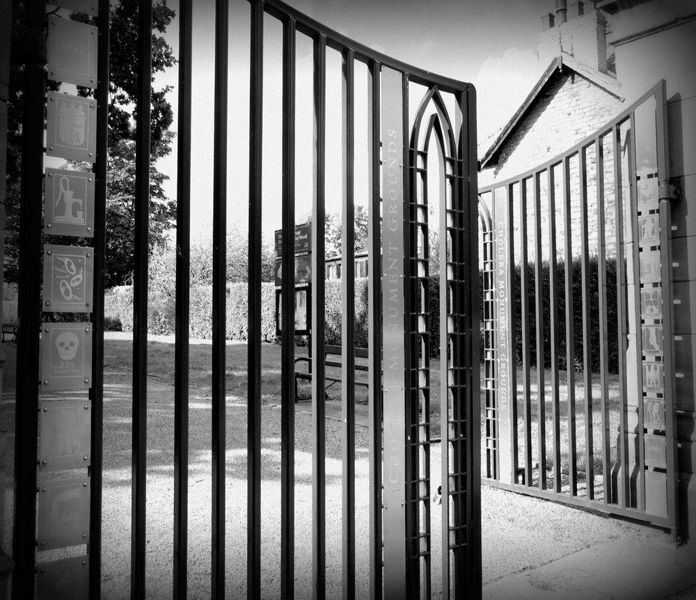 Gateway to the Cholera Monument.
