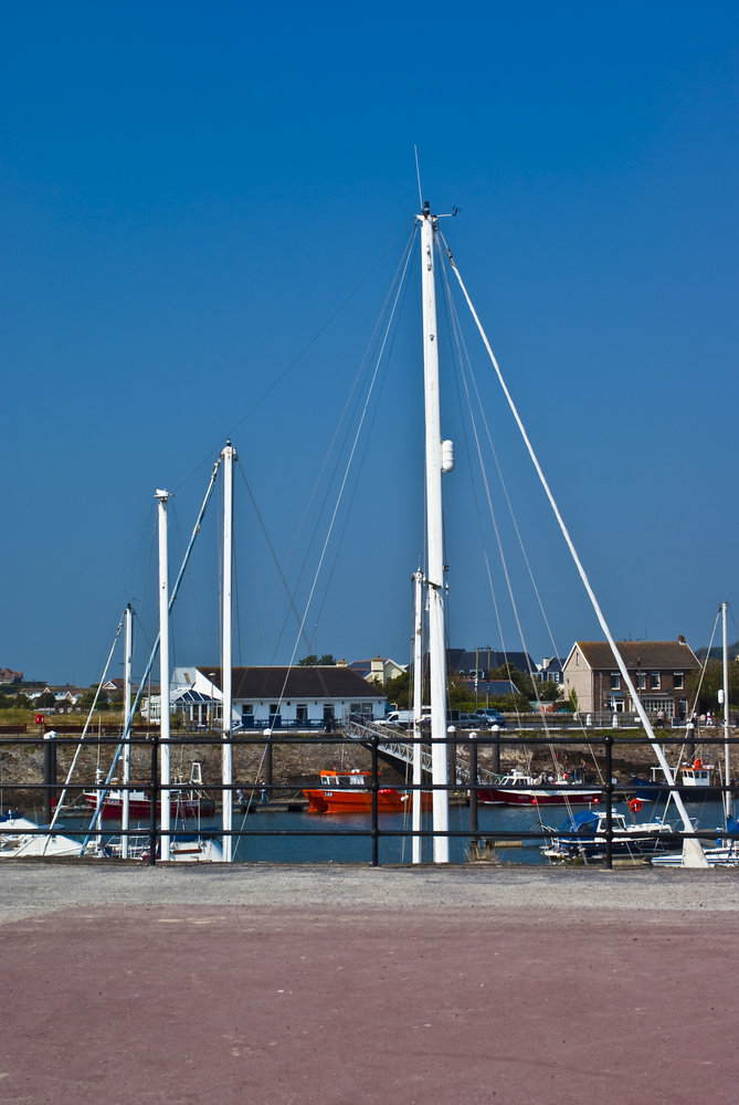 Masts at Burry Port