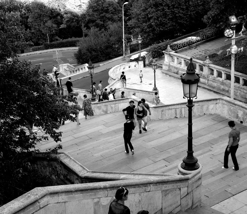 Stairs Leading up to Buda
