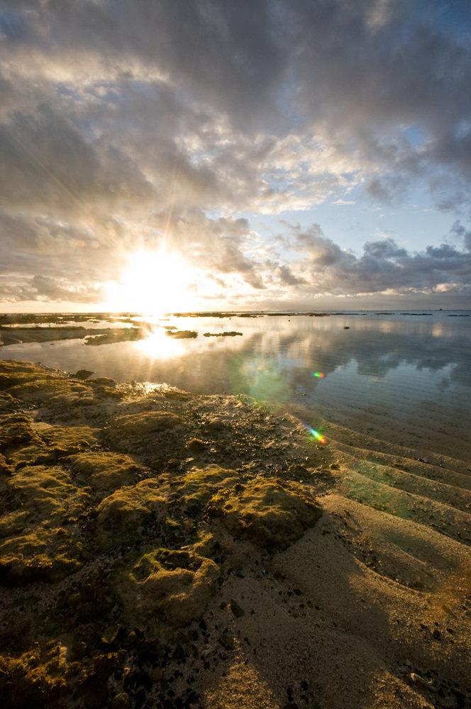 sun rises in Mauritius