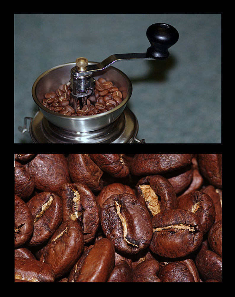 Coffee in the grinder