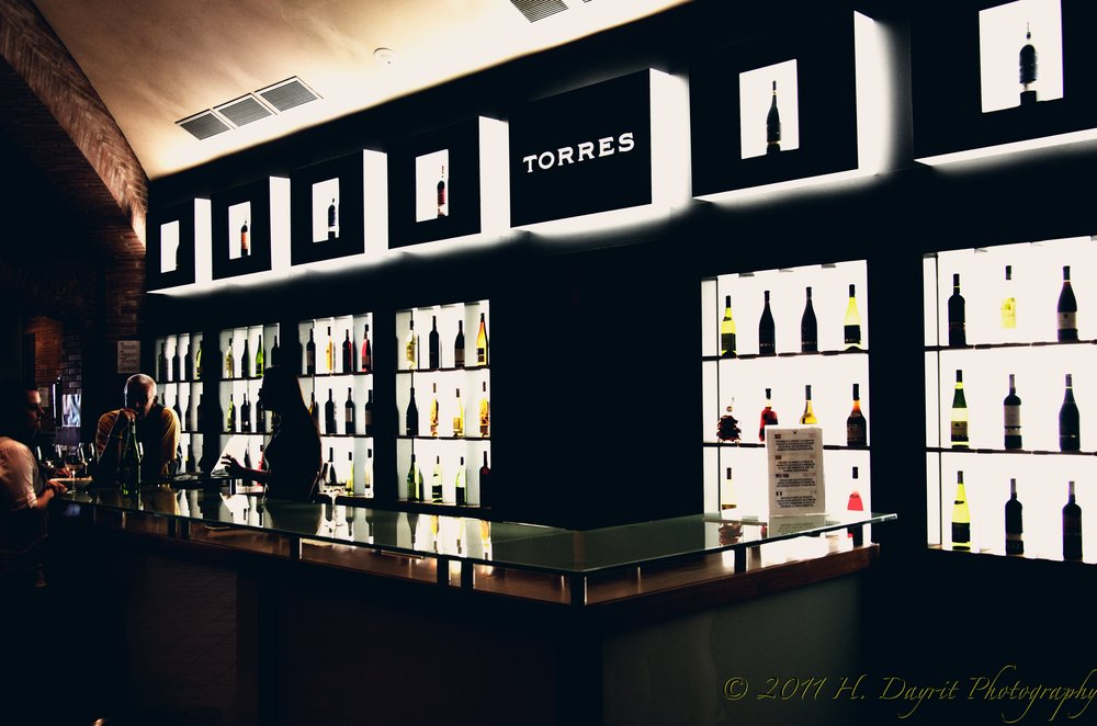In-house bar at the Torres Winery