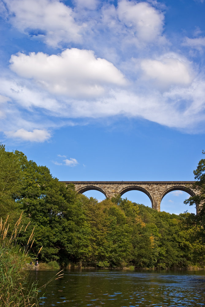Viaduct across the River Dee