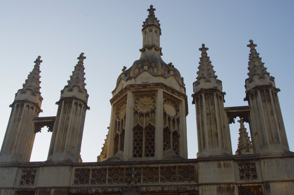 Clock tower at Kings collage, in Cambridge.