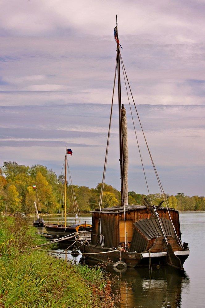 River sailing boat