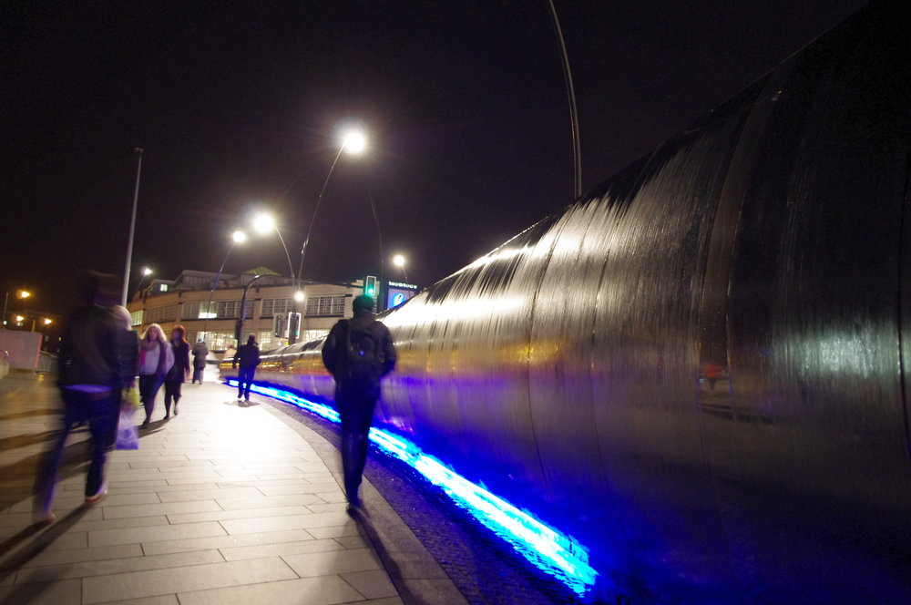 Sheffield Midland Railway station evening time.