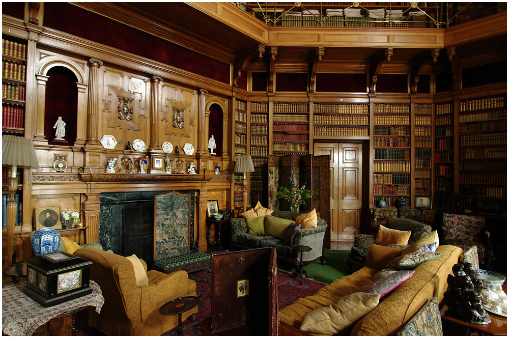 The Library at Muncaster Castle
