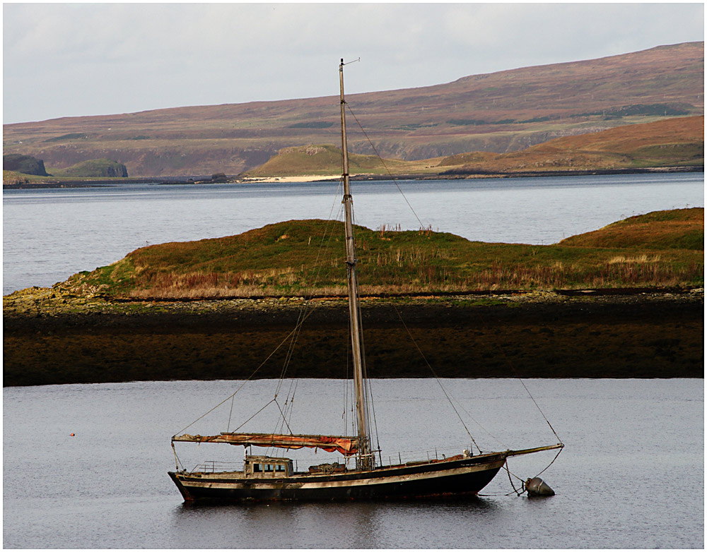 Boat Moored on Loch Dunvegan