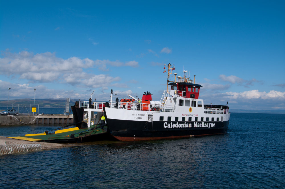 Ferry on the Isle of Arran