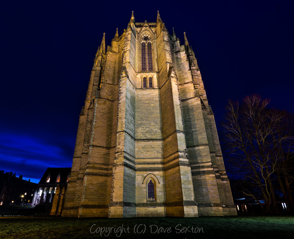 Lancing College by Night