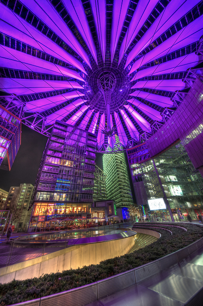 Sony Center Pink roof