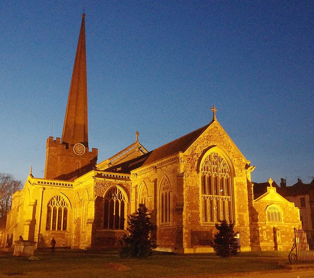St. Mary's, Bridgwater at Dusk