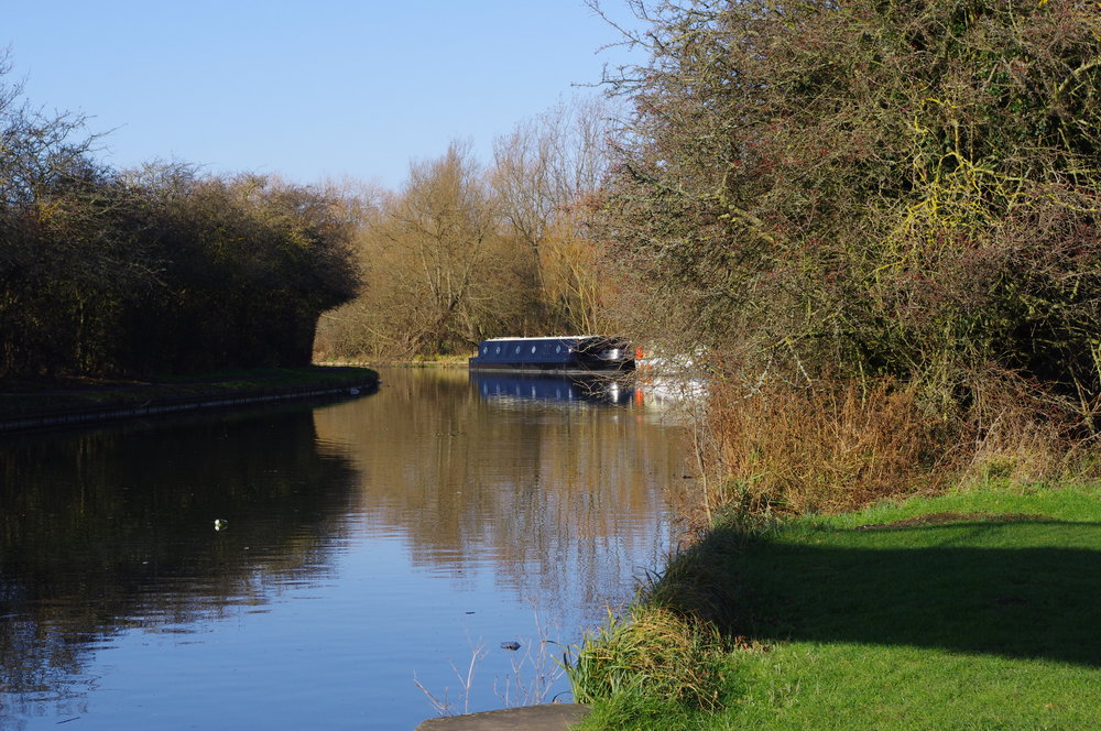 Canal and barge