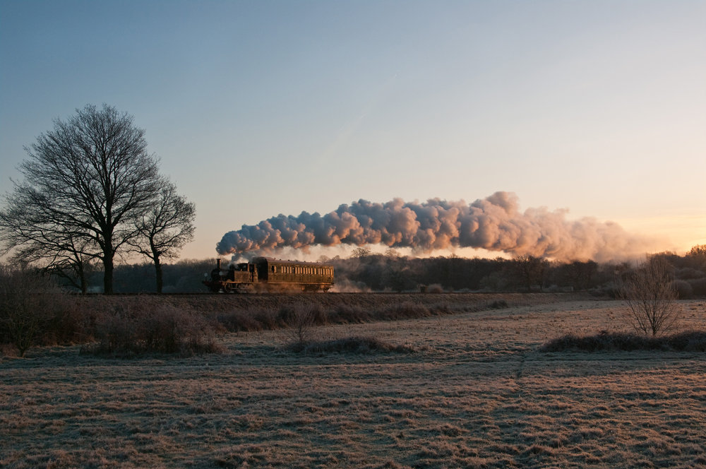 Early morning winter steam