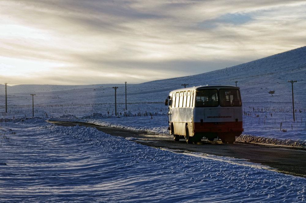Village Bus on the Snowy Road II
