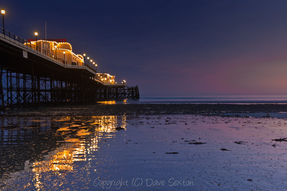 Worthing Pier in Post Sunset Glow