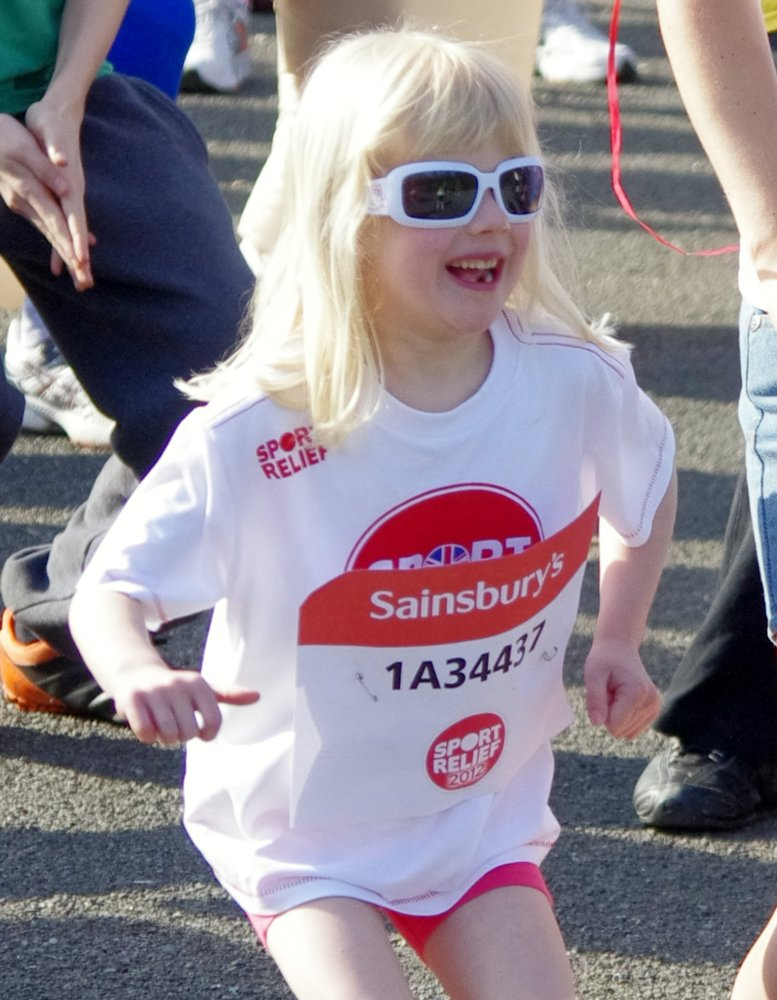 Ella having a warm up before the start!!