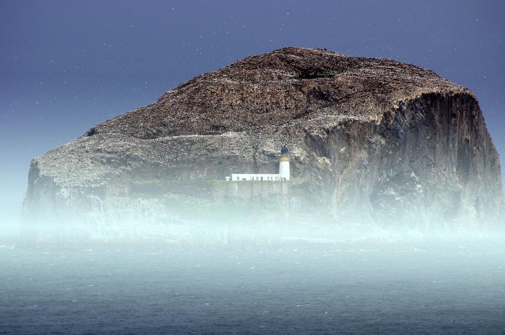 Mist at Bass Rock