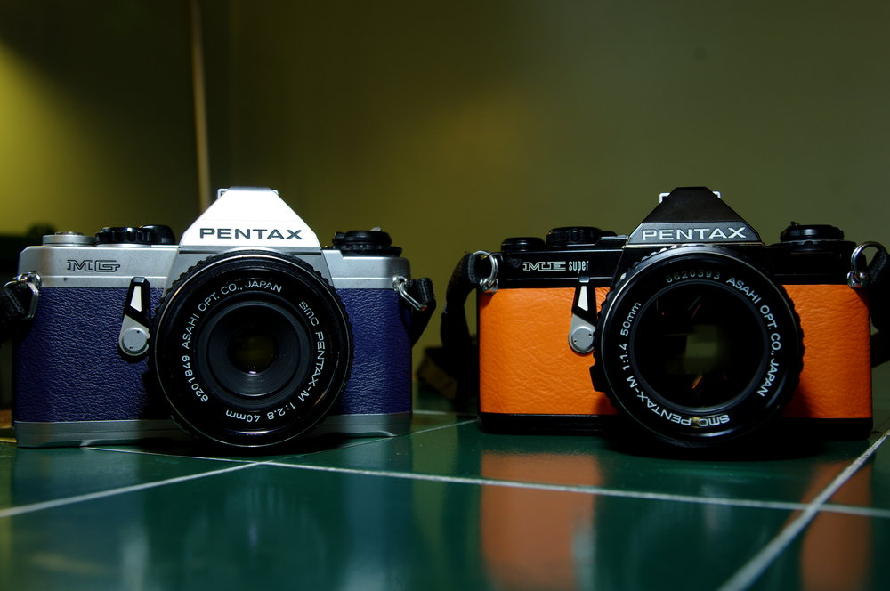 Pentax ME super & Pentax MG - New seals and recovered.