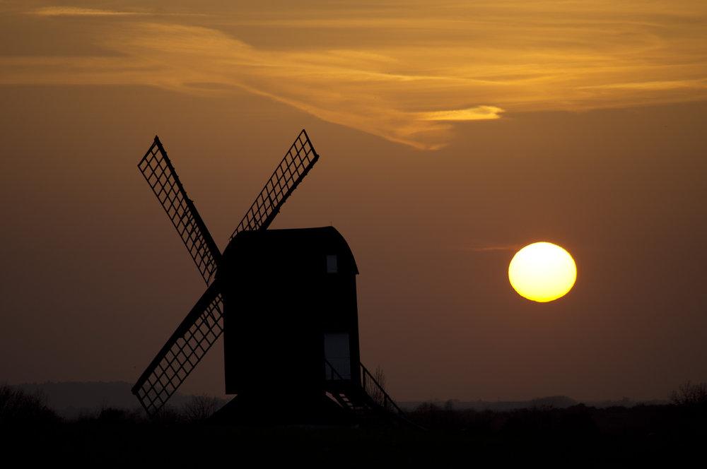 Pitstone Windmill at Sunset