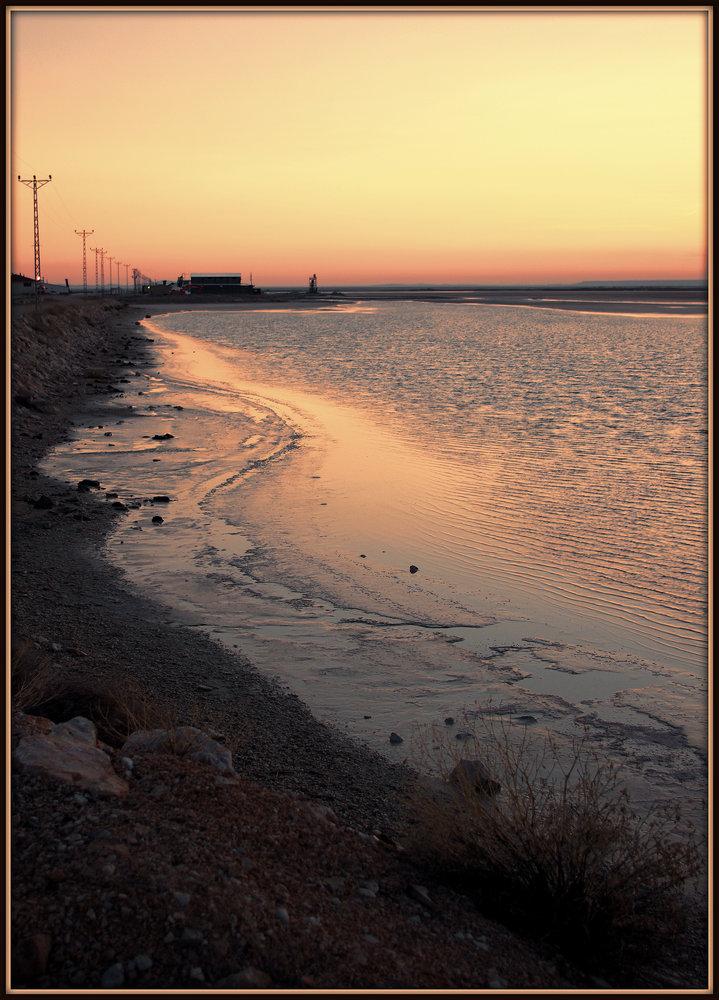 Salt Lake at Sunset II