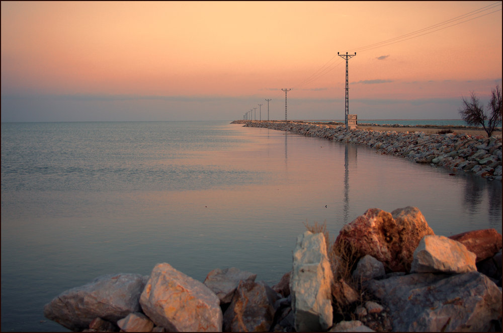Salt Lake at Sunset