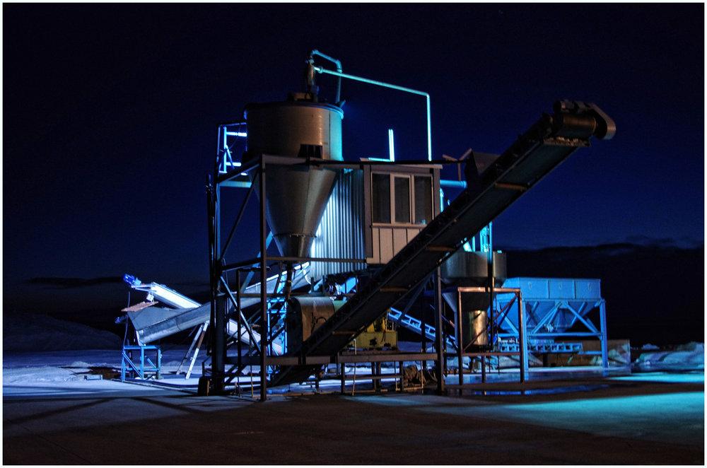 Salt Refinery at Night