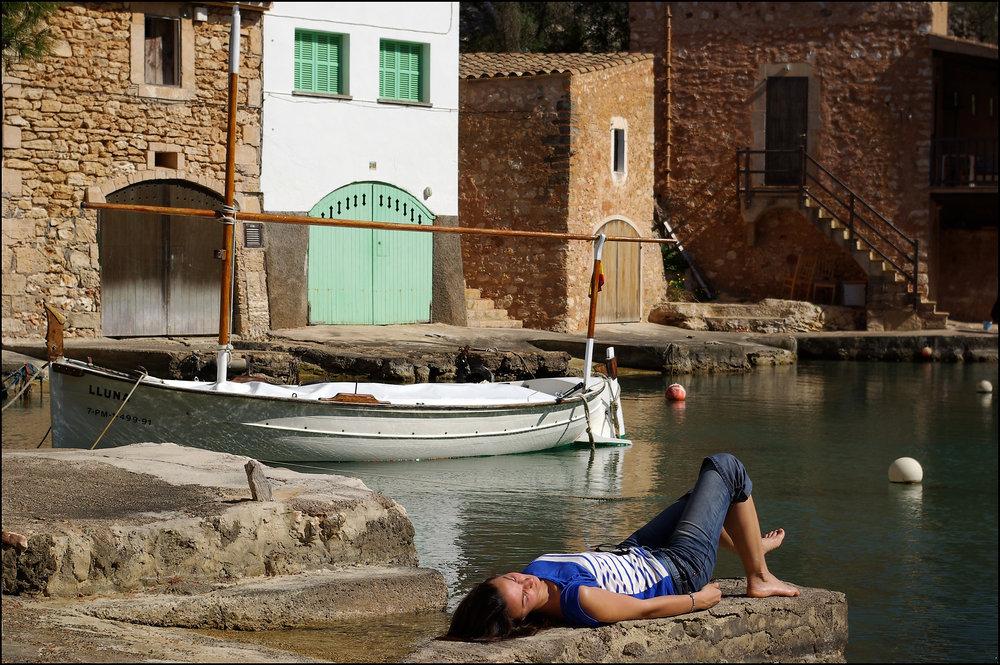 Spanish Girl Sleeping, Cala Figuera