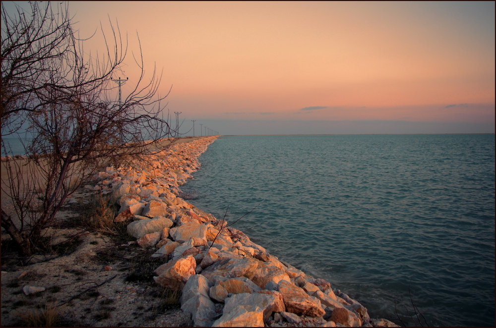 Salt Lake at Sunset III