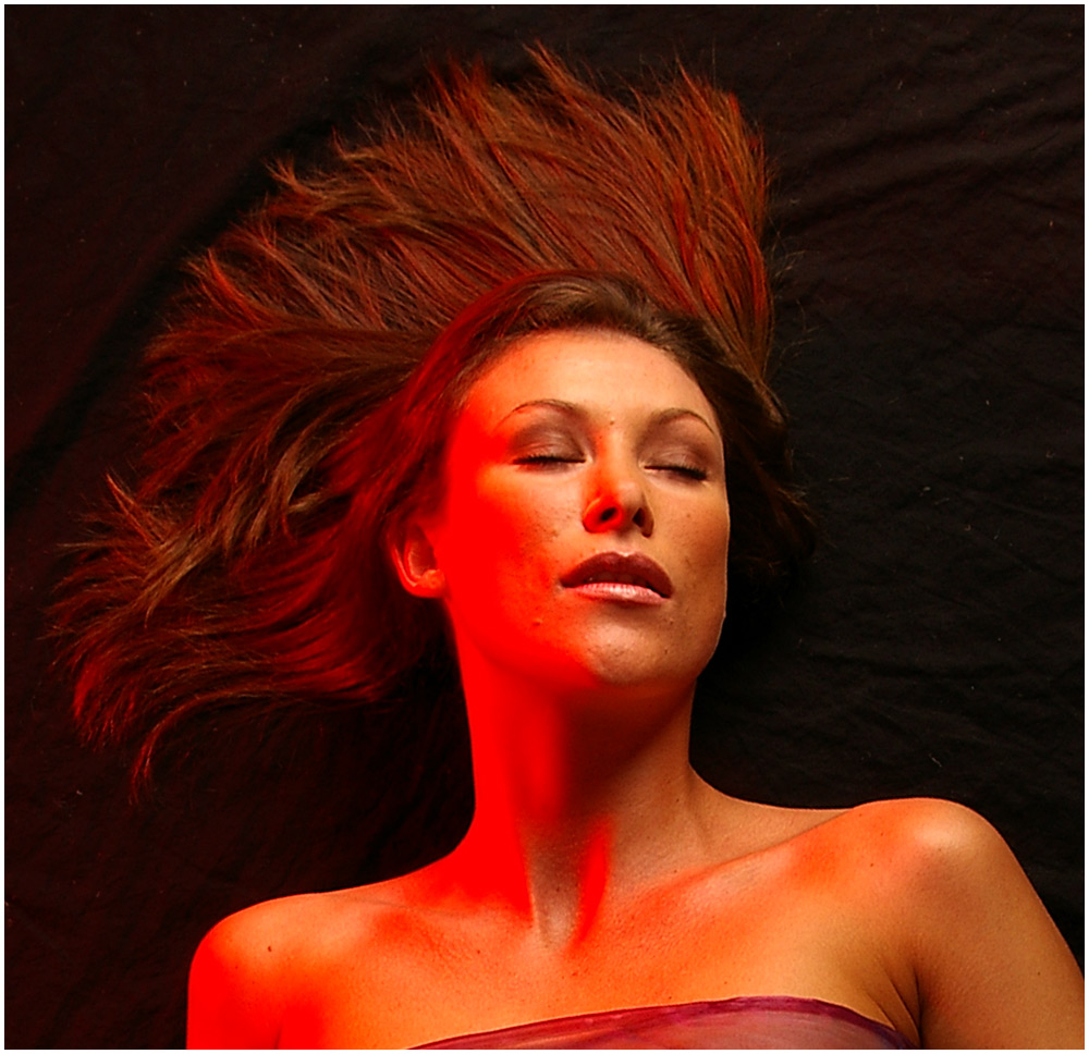 Cassie with Red Gels