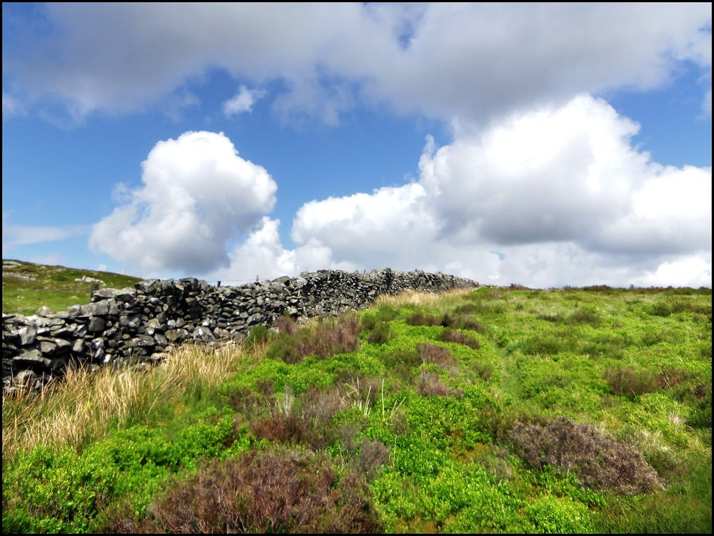 Moorland Wall with Cloud Formation
