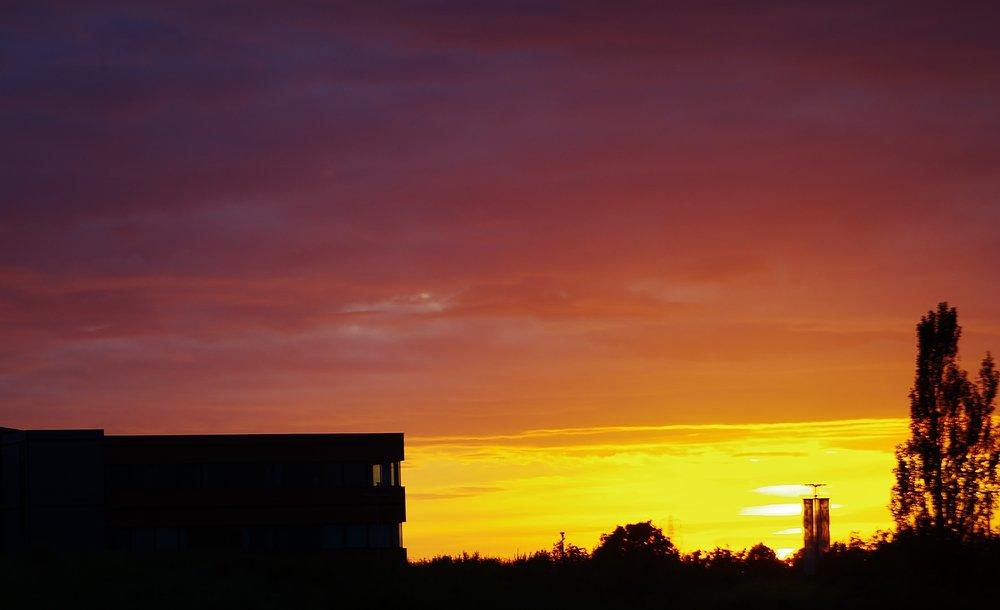 Sunset over Bridgwater