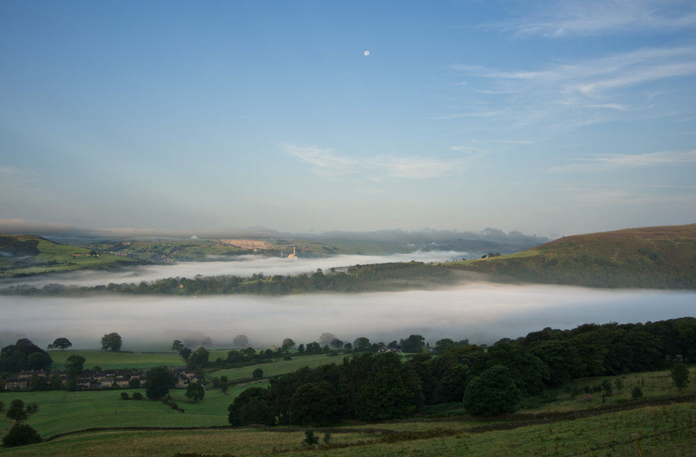 Early Morning Mist in Hope Valley