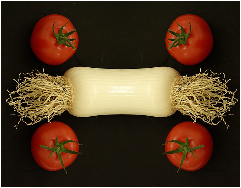 Four Tomatoes and a Leek