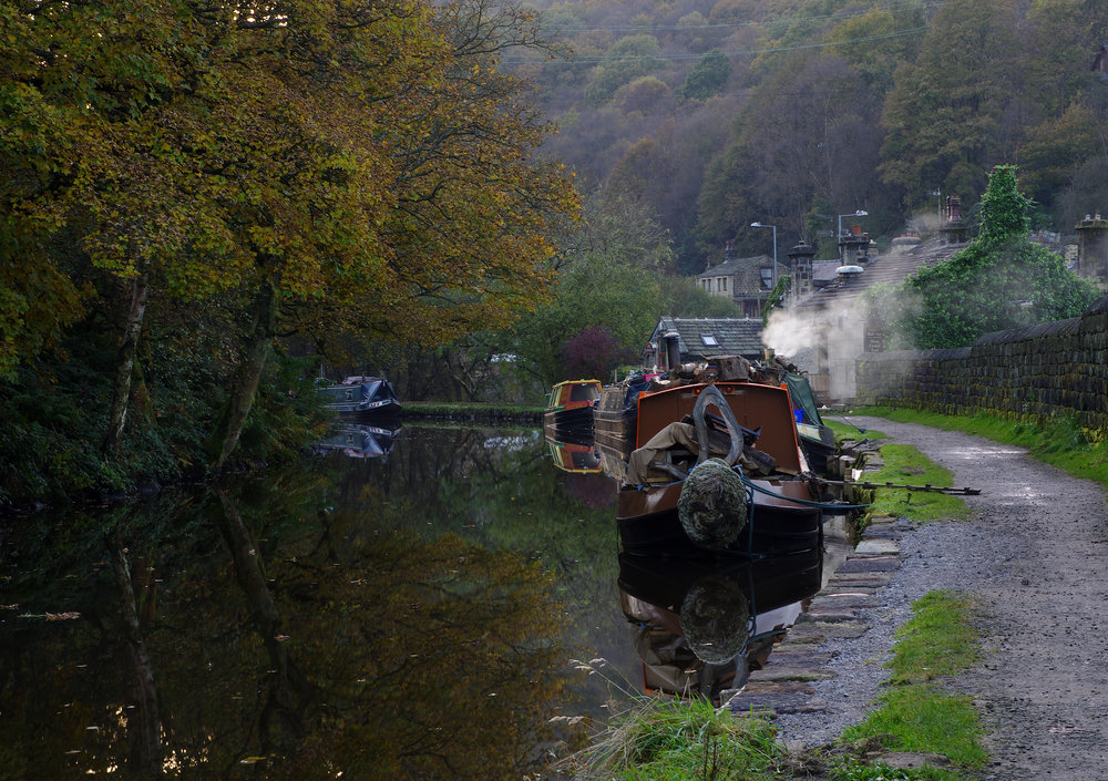 Barge Rochdale Canal
