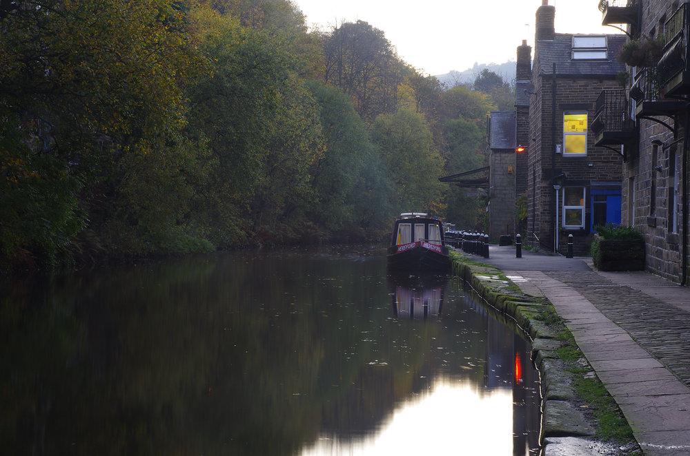 Dusk, Hebble End, Rochdale Canal