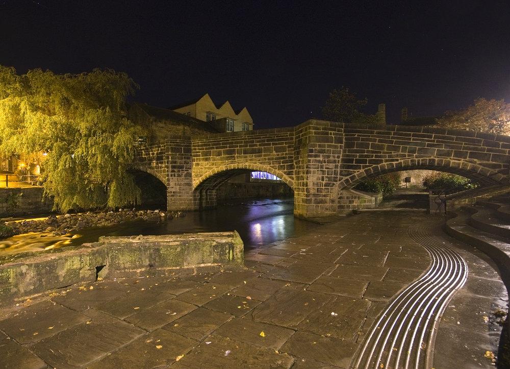 The packhorse bridge, Hebden Bridge.