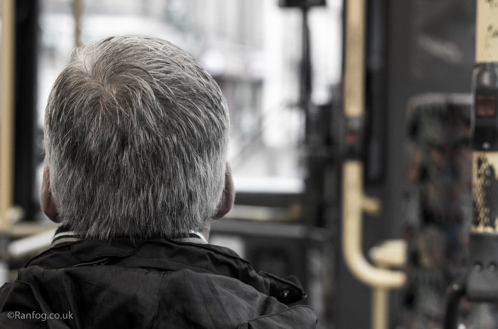 Back Of Head On Bus