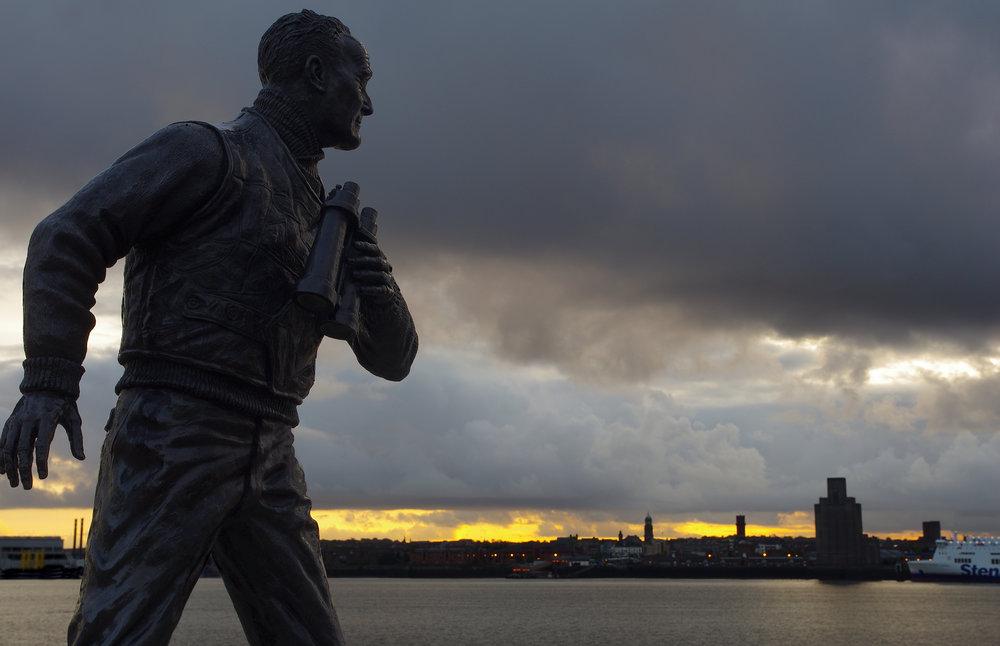 Statue,Pier Head Liverpool.