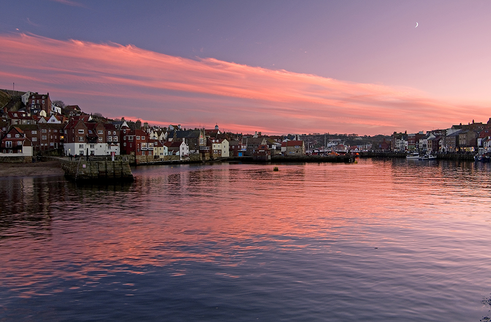 Whitby Harbour Sunset
