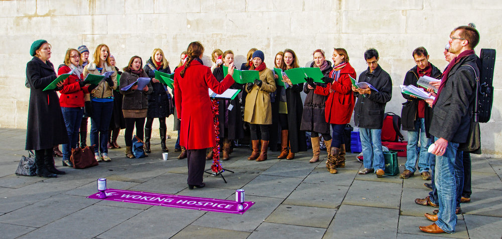 The choir fundraising