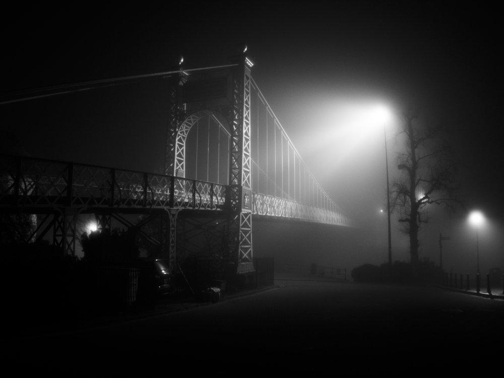 A Misty Grosvenor Suspension Bridge