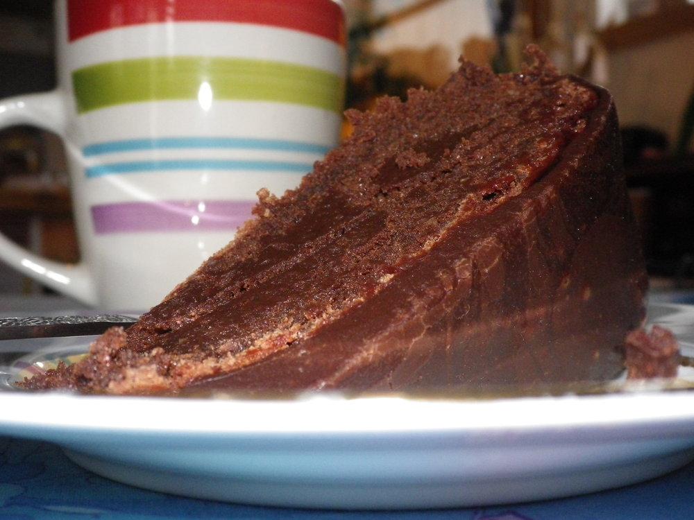 Coffee and chocolate cake.!