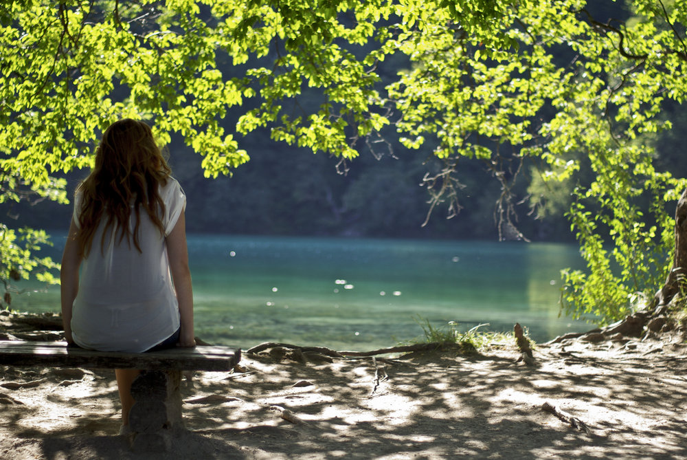 Girlfriend by lake