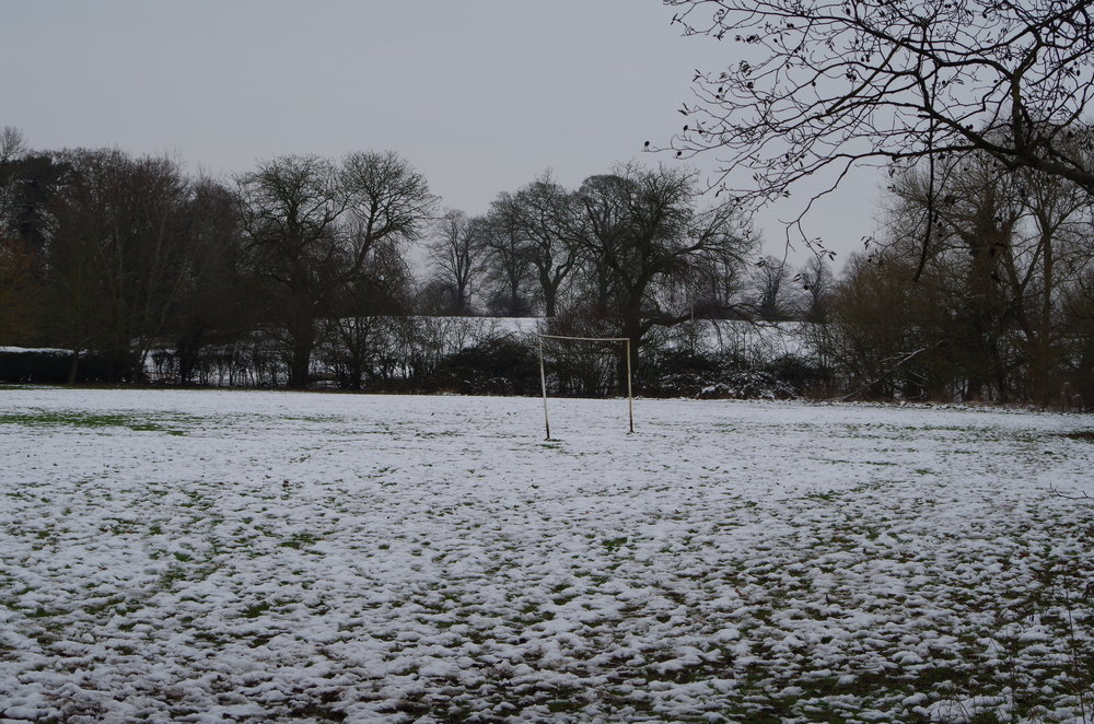 Goal in the snow