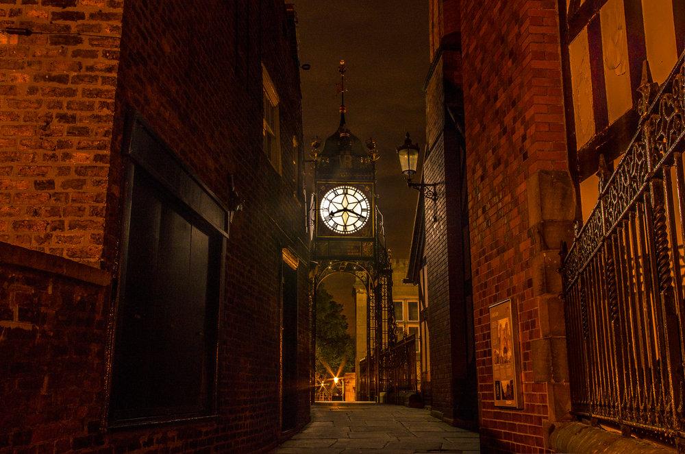 A Dickensian Eastgate Clock