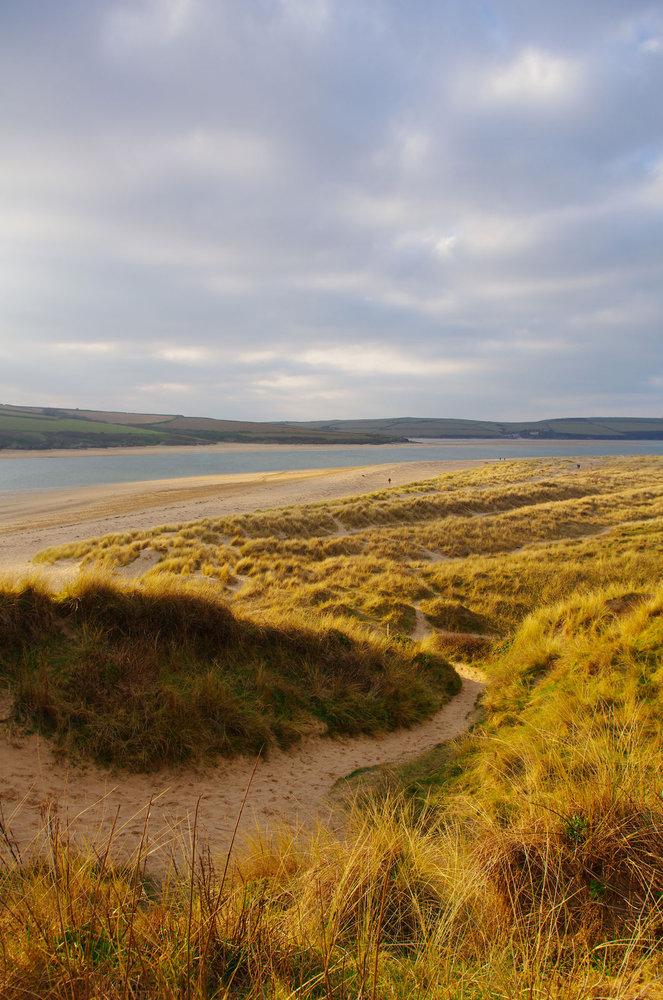 Sun lit sand dunes