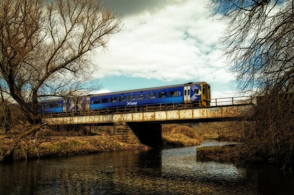 Class 158 on Bridge