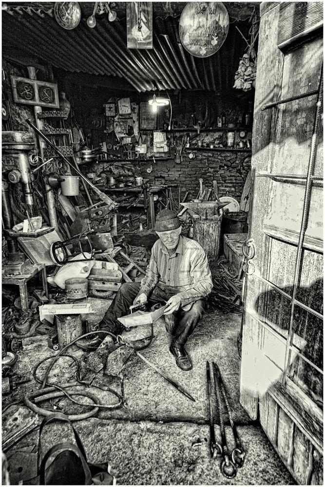 Inside the Blacksmith's Workplace